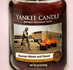 candle human waste and diesel