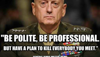 General Mattis's First Memo To The DoD Leaked To Article 107 News